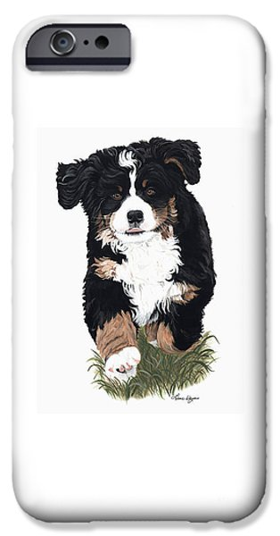 Dog Running. iPhone Cases - Little Ms. Muffet iPhone Case by Liane Weyers