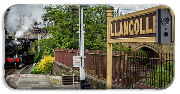 2 Seat iPhone Cases - Llangollen Railway Station iPhone Case by Adrian Evans