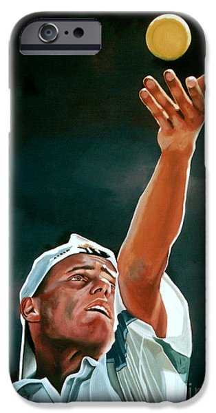 Atp World Tour iPhone Cases - Lleyton Hewitt iPhone Case by Paul  Meijering