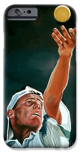 French Open iPhone Cases - Lleyton Hewitt iPhone Case by Paul Meijering