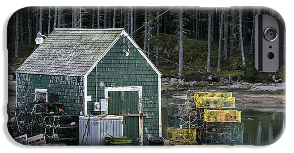 Lobster Shack iPhone Cases - Lobster  Shack iPhone Case by John Greim