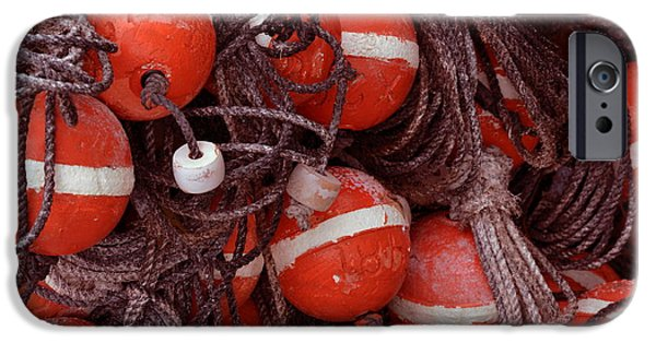 Lobster Bouys iPhone Cases - Lobster Trap Floats iPhone Case by Gustave Kurz