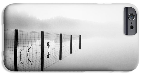 Misty Prints iPhone Cases - Loch ard early mist iPhone Case by John Farnan