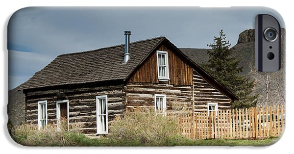 Log Cabin Photographs iPhone Cases - Log Cabin iPhone Case by Juli Scalzi