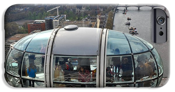 River View iPhone Cases - London Eye iPhone Case by Diane Lent