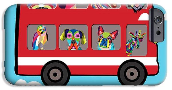 Animation iPhone Cases - London  iPhone Case by Mark Ashkenazi
