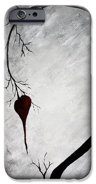 Tree Art Print Mixed Media iPhone Cases - Lonely Heart iPhone Case by Mike Grubb