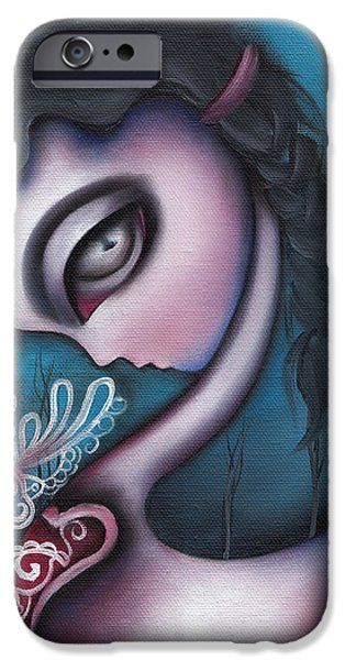 Swans... Paintings iPhone Cases - Lonesome   iPhone Case by  Abril Andrade Griffith
