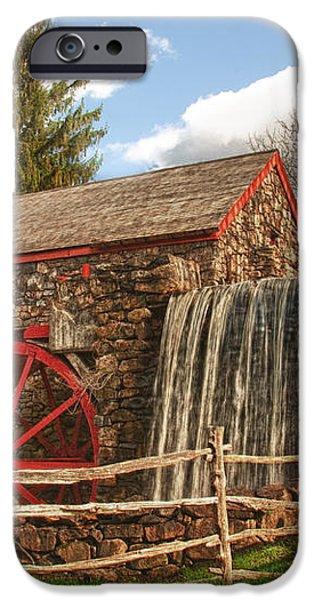 Longfellow's Wayside Inn grist mill iPhone Case by Jeff Folger