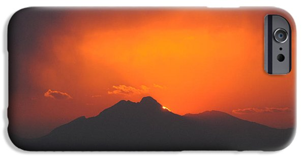 Ft Collins iPhone Cases - Longs Peak Sunset iPhone Case by Aaron Spong