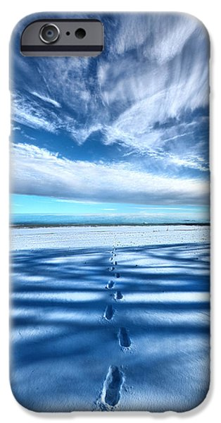Snow iPhone Cases - Looking Back iPhone Case by Phil Koch