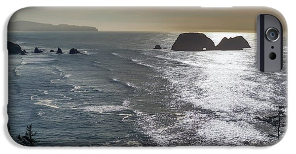 Ocean Tapestries - Textiles iPhone Cases - Looking Out iPhone Case by Dennis Bucklin