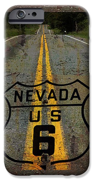 Lost Highway iPhone Case by John Stephens