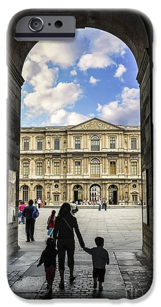 Travel Photographs iPhone Cases - Louvre iPhone Case by Elena Elisseeva