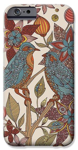Design iPhone Cases - Love Birds iPhone Case by Valentina
