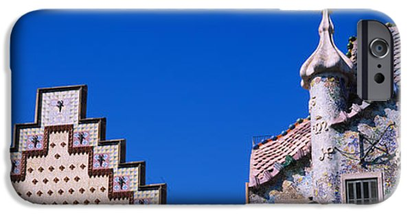 Mosaic iPhone Cases - Low Angle View Of A Building, Casa iPhone Case by Panoramic Images
