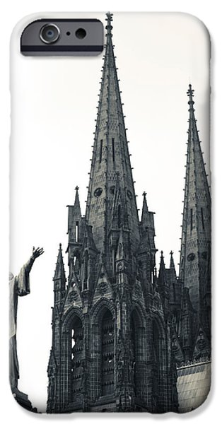 Notre Dame Cathedral iPhone Cases - Low Angle View Of A Cathedral iPhone Case by Panoramic Images