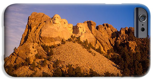 Mount Rushmore iPhone Cases - Low Angle View Of A Monument, Mt iPhone Case by Panoramic Images