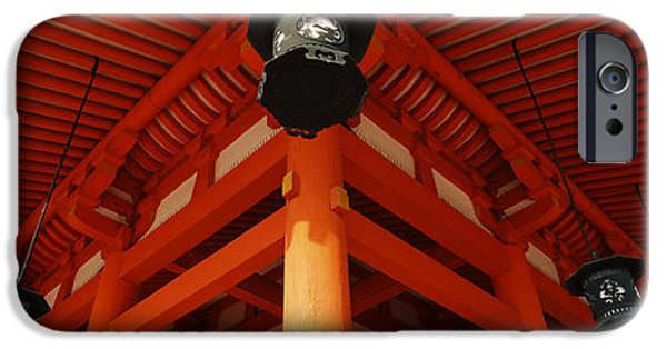 Kyoto iPhone Cases - Low Angle View Of A Shrine, Heian Jingu iPhone Case by Panoramic Images