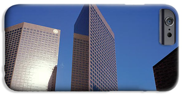 Abstractions iPhone Cases - Low Angle View Of Downtown Office iPhone Case by Panoramic Images