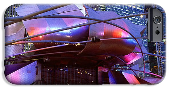 The Bean iPhone Cases - Low Angle View Of Jay Pritzker iPhone Case by Panoramic Images