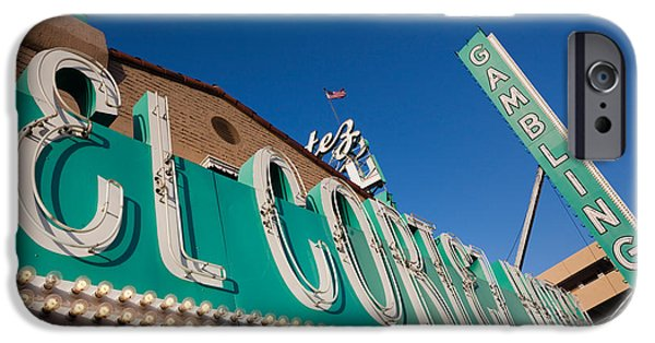 Sign iPhone Cases - Low Angle View Of Sign Of El Cortez iPhone Case by Panoramic Images