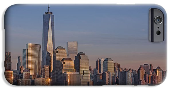 City Scape Photographs iPhone Cases - Lower Manhattan Skyline iPhone Case by Susan Candelario