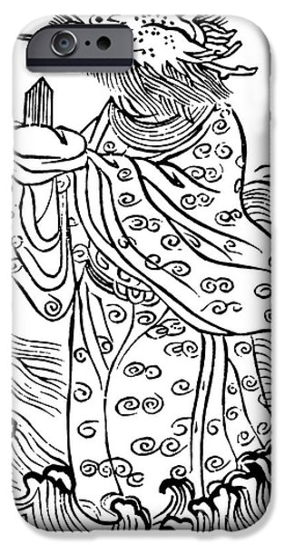 Serpent iPhone Cases - Lung Wang, Chinese Dragon King iPhone Case by Photo Researchers