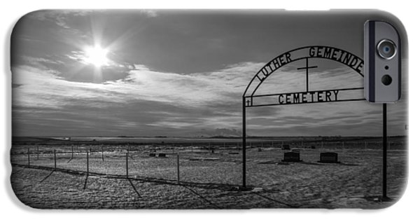 Luth iPhone Cases - Luther Gemeinde Cemetery iPhone Case by Chad Rowe