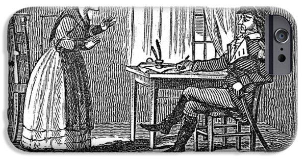 Patriots iPhone Cases - Lydia Darrah, 1777 iPhone Case by Granger