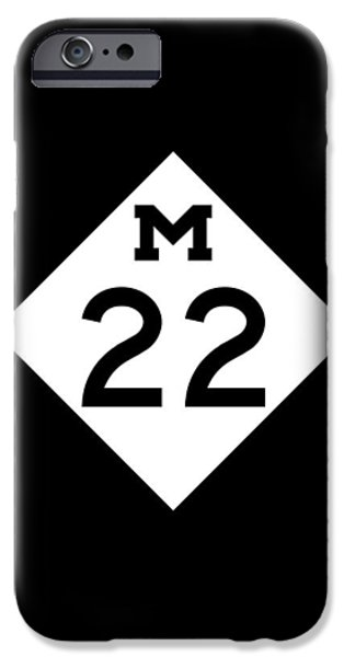 Sign iPhone Cases - M 22 iPhone Case by Sebastian Musial