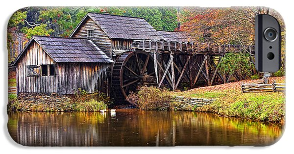 Meadow Photographs iPhone Cases - Mabry Grist Mill iPhone Case by Marcia Colelli