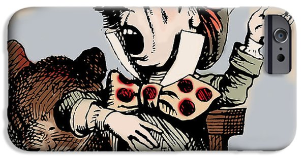 Mad Hatter iPhone Cases - Mad Hatter Color iPhone Case by John Tenniel
