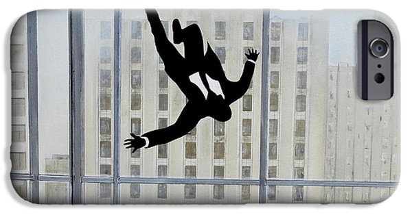 Mad iPhone Cases - Mad Men Falling Man iPhone Case by John Lyes