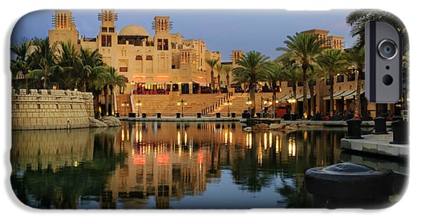 East Pyrography iPhone Cases - Madinat Jumeirah in Dubai iPhone Case by Jelena Jovanovic