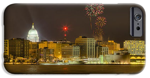 Fireworks iPhone Cases - Madison New Years Eve iPhone Case by Steven Ralser