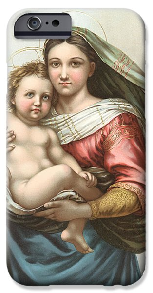 Antiques iPhone Cases - Madonna and Child iPhone Case by Gary Grayson