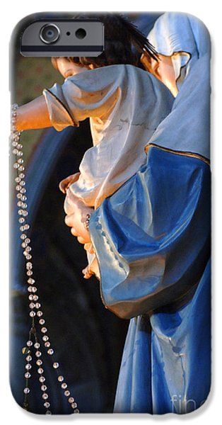 Saint Christopher iPhone Cases - Madonna and Jesus iPhone Case by Bob Christopher