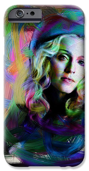 Madonna Digital Art iPhone Cases - Madonna iPhone Case by Unknown