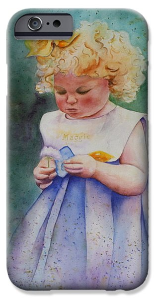 Recently Sold -  - Patsy Sharpe iPhone Cases - Maggies Dandelion iPhone Case by Patsy Sharpe