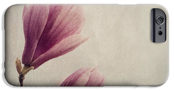 Purple Prints iPhone Cases - Magnolia iPhone Case by Jelena Jovanovic