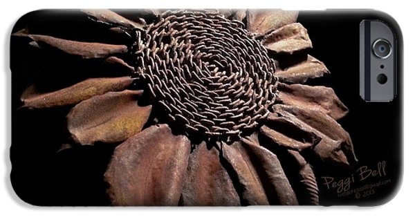 Floral Sculptures iPhone Cases - Mailbox Sunflower iPhone Case by Peggi Bell