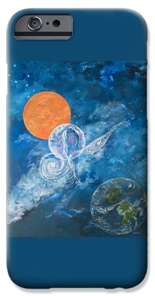 Fertility Paintings iPhone Cases - Making Love to the Universe - Infinitude iPhone Case by Judy M Watts-Rohanna