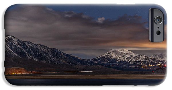 Night Photography iPhone Cases - Mammoth at Night iPhone Case by Cat Connor