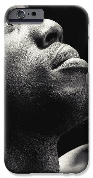 Man Looking Up iPhone Case by Darren Greenwood