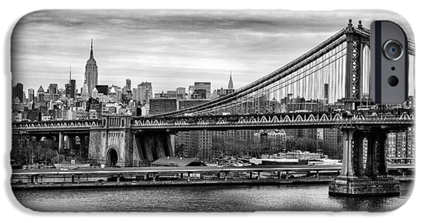 Empire State iPhone Cases - Manhattan bridge iPhone Case by John Farnan