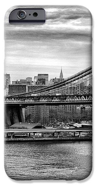 Manhattan bridge iPhone Case by John Farnan