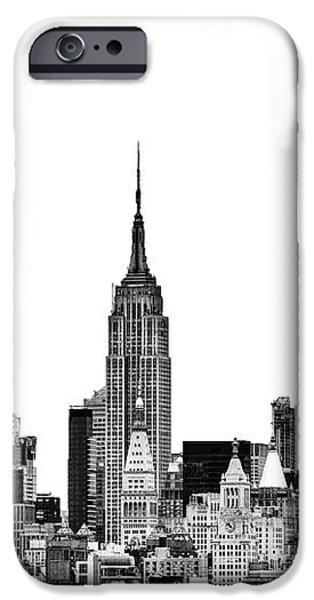 Manhattan Skyline iPhone Case by John Farnan
