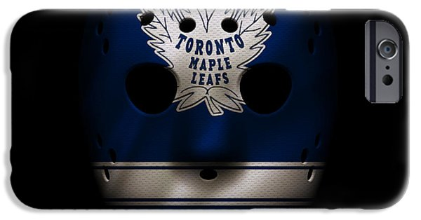 Toronto Maple Leafs iPhone Cases - Maple Leafs Jersey Mask iPhone Case by Joe Hamilton