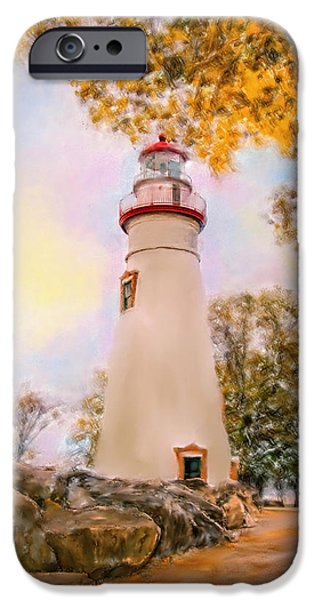 Tree Art Print iPhone Cases - Marble Head  Lighthouse iPhone Case by Mary Timman